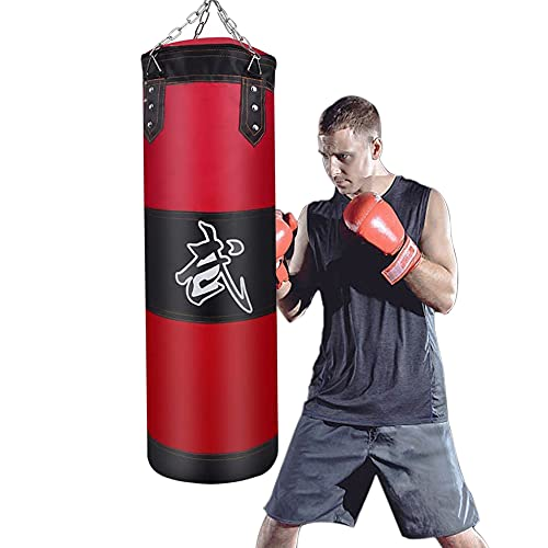 Heavy Boxing Bag (Empty)-GEMGO Boxing Sandbag for Fitness Training|Muay Thai|MMA|Martial Arts-Heavy Punching Bags for…