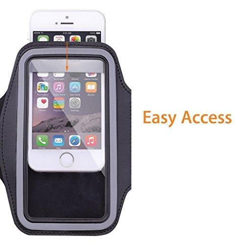 [해외]스포츠 암밴드, 아이폰 6 (4.7 인치), 아이폰 5s, 아이폰 5, 아이폰 5c, 듀얼 암 크기 슬롯 W가 장착 된 운동 체육관 스포츠 밴드, Coeuspow Armabnd/Sports Armband, Coeusp