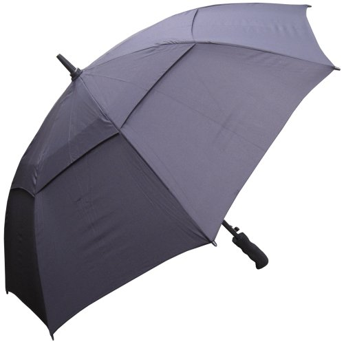 RainStoppers Auto Open Windbuster Sport Umbrella, Black, 48-Inch