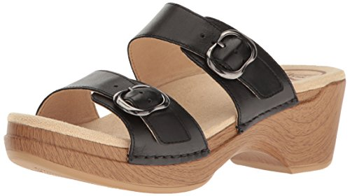 Dansko Women's Sophie Flat Sandal, Black Full Grain, 39 EU/8.5-9 M US by Dansko