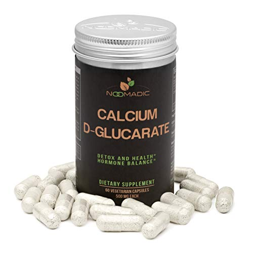 Calcium D-Glucarate, 60 Capsules | 500mg Each, Supports Detoxification, Liver Health, Metabolism, Regulates Hormones and Estrogen Dominance