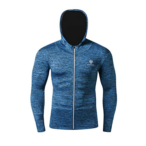 Outdoor Mountaineering Sport Cap Coat Men's Fitness Training Body Shaper Workout Long Sleeve Hooded Clothes from Hotcl