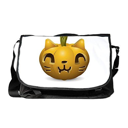 Truly Teague Laptop Notebook Messenger Bag Kitty Cat Halloween -