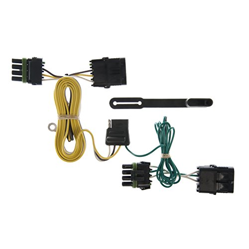 CURT 55356 Vehicle-Side Custom 4-Pin Trailer Wiring Harness for Select Jeep Wrangler ()