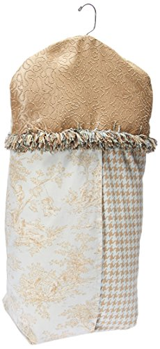 Glenna Jean Central Park Diaper Stacker, Blue/Chocolate/Tan/White - Glenna Jean Chocolate