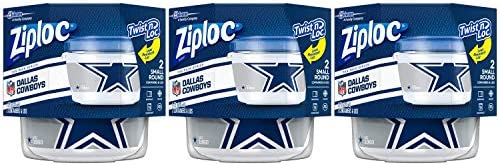 Ziploc Brand Dallas Cowboys Containers product image