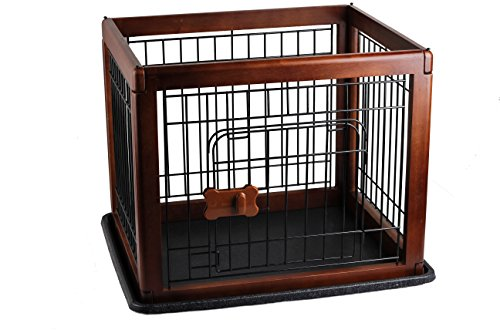 PAWISE Dog Crate, Playpen with Doors Wood Pet Pen Dog Houses Oak by PAWISE