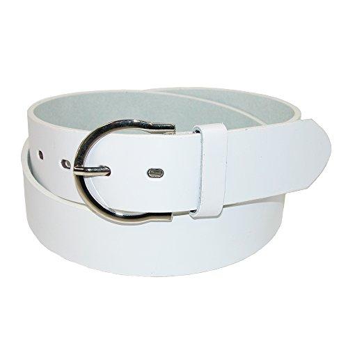 CTM Womens Basic Bridle Belt, Small, White