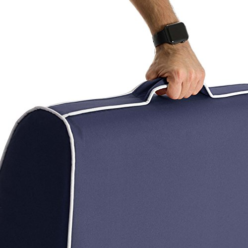 PopLounge Expandable Foam Furniture Coast Lounger, Crown Blue Navy, 23'' x 40'' x 26'' by PopLounge (Image #8)