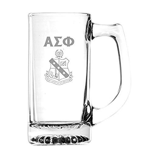 (Greekgear Alpha Sigma Phi Glass Engraved Mug Transparent)