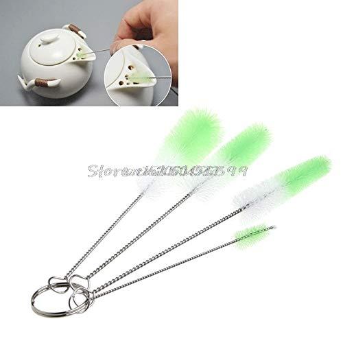 NJPOWER 4Pcs Bottle Cleaning Brushes Kitchen Kettle Spout Teapot Nozzle Clean Brush Set R06 Drop Ship