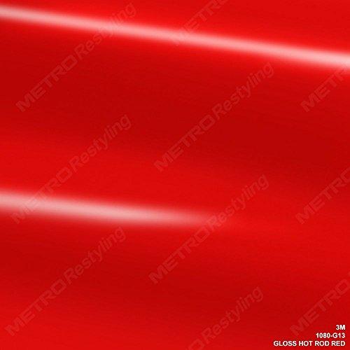3M 1080 G13 GLOSS HOT ROD RED 5ft x 3ft (15 Sq/ft) Car Wrap Vinyl Film