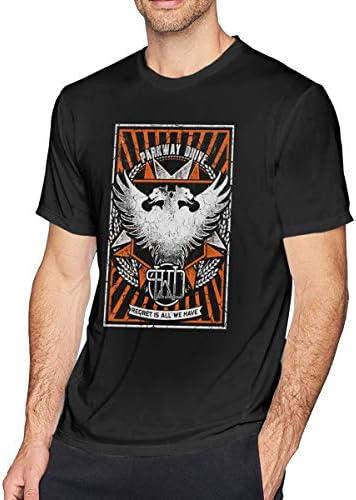 Parkway Drive メンズ コットン 半袖 クルーネック Tシャツ ロックミュージック