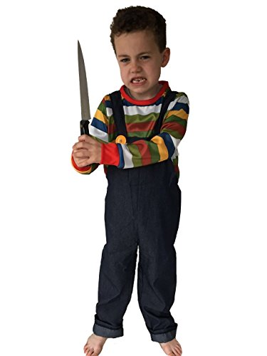 Chucky Doll Costume The (Kids HORROR DOLL Costume by Rubber Johnnies , 7-9 Years , Halloween)