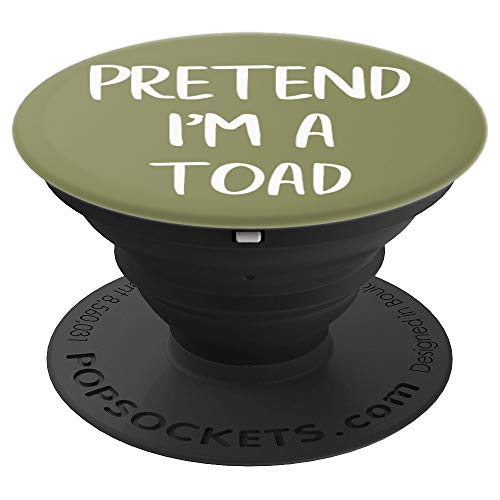 Pretend I'm A Toad Funny Lazy Costume Party - PopSockets Grip and Stand for Phones and Tablets (Im The Best Toad)
