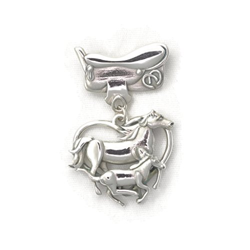 Sterling Silver Horse Pin - Horse Brooch by Donna Pizarro from her Animal Whimsey Collection of Fine Horse Jewelry by Donna Pizarro Designs
