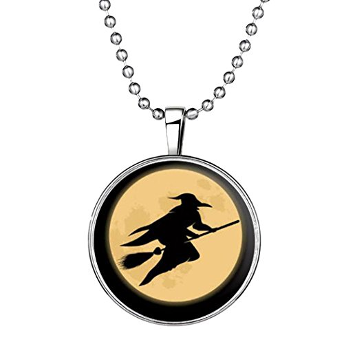 [Time Pawnshop Original Design Halloween Witch Night Luminous Pendant Necklace] (Homemade Kids Halloween Costumes 2016)