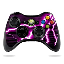 Protective Vinyl Skin Decal Cover for Microsoft Xbox 360 Controller wrap sticker skins Purple Lightning