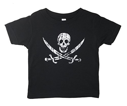 Pirate Flag Jolly Roger Calico Jack Baby T Shirt (24M, Black)