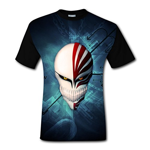 Weinike 2017 most popular BLEACH Mask So Cool tee shirts T-shirts For Men M (Popular Halloween Masks 2017)