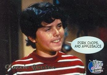 Brady Bunch Pork Chops and Applesauce Peter Brady trading card 1998 Inkworks TVs Coolest Classics #31 Christopher Knight ()