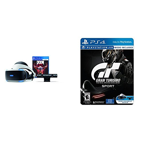 playstation vr doom bundle gran turismo sport. Black Bedroom Furniture Sets. Home Design Ideas