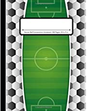 Soccer Ball Composition Notebook: Wide Ruled | 100 Pages | One Subject Daily Journal Notebook | Futbol Field