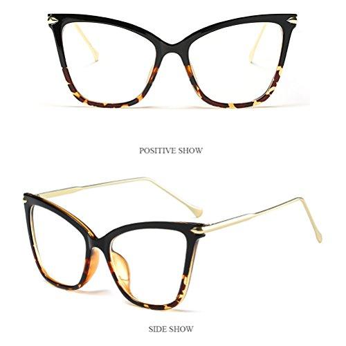 Mode Brown De amp;transparent Plein Lunettes Cadre Oeil Des Protection Sunglasses Soleil Zhhlaixing Conduite Des Sport Femmes de Aux Yeux lunettes Chat de Grand Womens Air Xg4Zxq