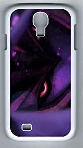 3D Purple Pattern PC Hard Case Cover For Samsung Galaxy S4 SIV I9500 Case and Cover White
