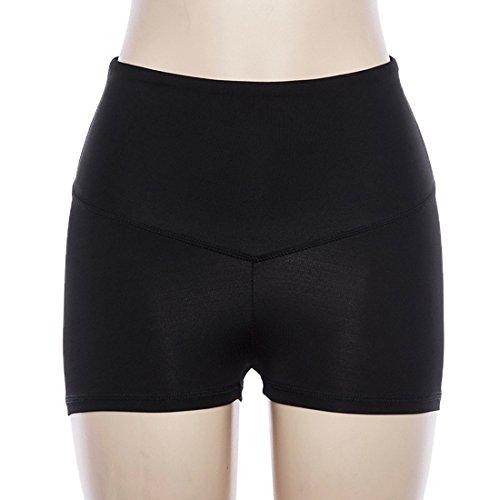 Unita Vita Pants Tinta Pantaloncini Running Casual Moda Nero Skinny Estivo Yoga Shorts Alta Donne a da wTzxSS4q1