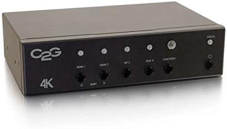 Black 4K UHD HDMI C2G 40848 4K Displayport and VGA to HDMI Adapter Converter Switch TAA Compliant