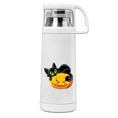 HAULKOO Halloween Stainless Steel Cup Cover Convenient Portable Students Creative Play Lovers (Brett Favre Halloween Costume)