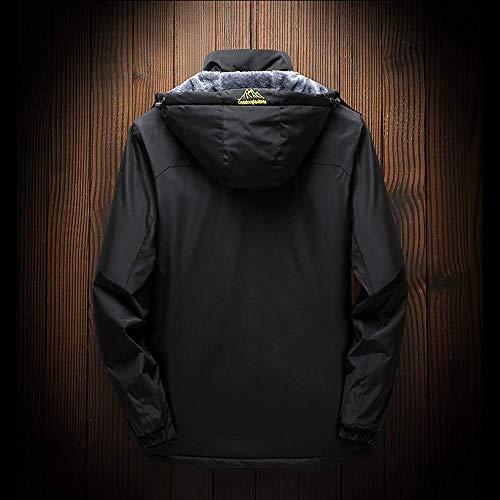 Dimensione 5xl Cappotto Grigio Cashmere Con Uomo All'aperto Per Nero Da Cappuccio Zhrui colore Invernale L'inverno Abbigliamento 4pfAfq