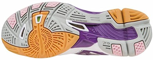 Women's Tornado 9 Indoor Wave Shoes Mizuno Multisport White violet UwzdU