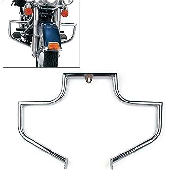 Areyourshop Engine Guard Crash Bar Highway for Harley Heritage FLSTC FLSTF Softail fat boy