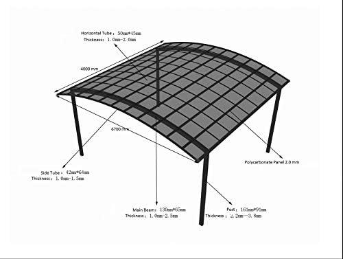 Litesort Carports - Toldo portátil de Aluminio para Caravana (13 x 22 pies), Fabricado con Marco de Aluminio y Techo de policarbonato: Amazon.es: Jardín