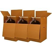UBOXES Larger Wardrobe 24 x 24 x 40-Inches Moving Boxes, Bundle of 3 (BOXBUNDWAR03)