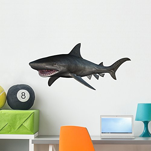 - Wallmonkeys Tiger Shark Wall Decal Peel and Stick Animal Graphics (36 in W x 27 in H) WM176042
