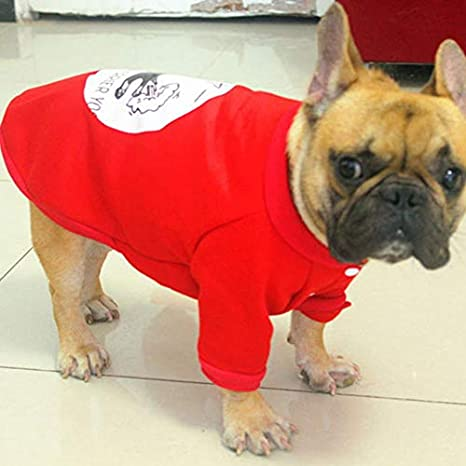 Ropa Kawaii Bulldog Francés de Moda Ropa de Perro Caliente para Mascotas Sudadera con Capucha Suéteres