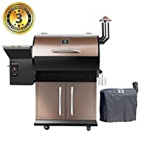Z GRILLS Wood Pellet Grill & Smoker with Patio Cover,700 Cooking Area 6 in 1- Electric Digital Controls Grill for Outdoor BBQ Smoke, Roast, Bake, Braise and BBQ with Storage Cabinet made by  epic Z GRILLS