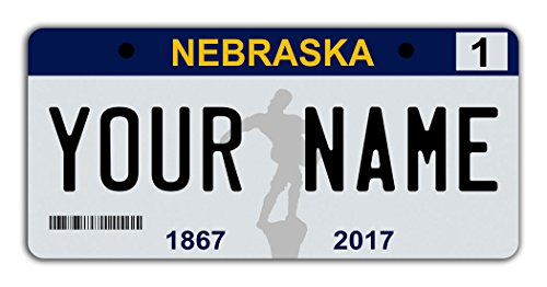- BleuReign Personalize Your Own 2017 Nebraska State License Plate Bicycle Bike Stroller Children's Toy Car 3