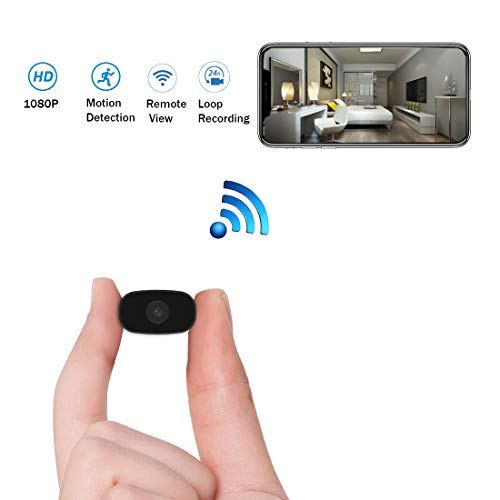Hidden Cameras HUOMU Mini spy cam 1080P HD Wireless WiFi Cameras Remote View Video Recorder Tiny Home Security Indoor Outdoor Cameras Smart Motion Detection