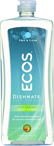 Earth Friendly Products Proline PL9721/12 Dishmate Free and Clear Ultra-Concentrated Liquid Dishwashing Cleaner, 25oz Squeeze (Case of 12)