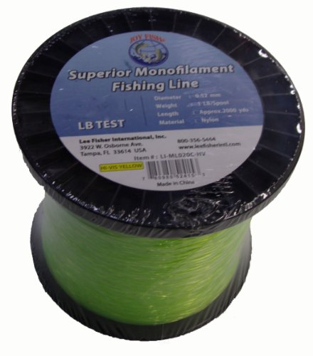 Joy Fish Monofilament Fishing Line Hi-Vis Green 1 Lb Spool (30 -