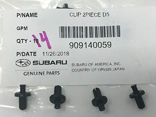 SUBARU Bumper Cover Retainer Clips (4) Impreza Crosstrek BRZ Forester Impreza Legacy Outback WRX STI 909140062 OEM