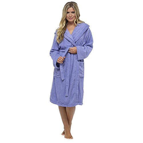 Perfect De Chambre Robe Cadeau ponge l Peignoir No 100 Violet Coton Dames De Luxury Robe Serviette pqPgUw