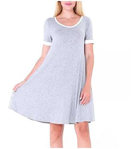 Women As3 Short Casual Dress Pleated Size Coolred s Mini Sleeve Plus Crewneck 1P4dnAxqB