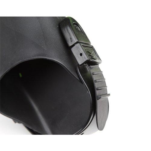 Seavenger Diving Snorkel Set- Dry Top Snorkel / Trek Fin / Single Len Mask / Gear bag- Blue - Large/X-Large