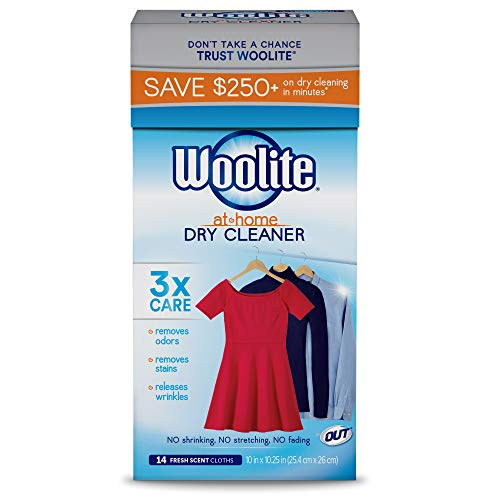 - Woolite At Home Dry Cleaner, Fresh Scent, 14 Cloths