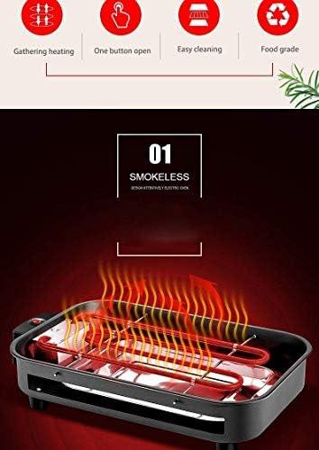 Kyman Portable Smokeless électrique Grill Hot Dog Churrasqueira Eletrica coréen Grille-Pain Rotating Barbecue Équipement Moteur